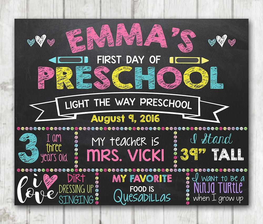 Druckbare ersten Tag der Schule Zeichen ersten Tag der | Etsy