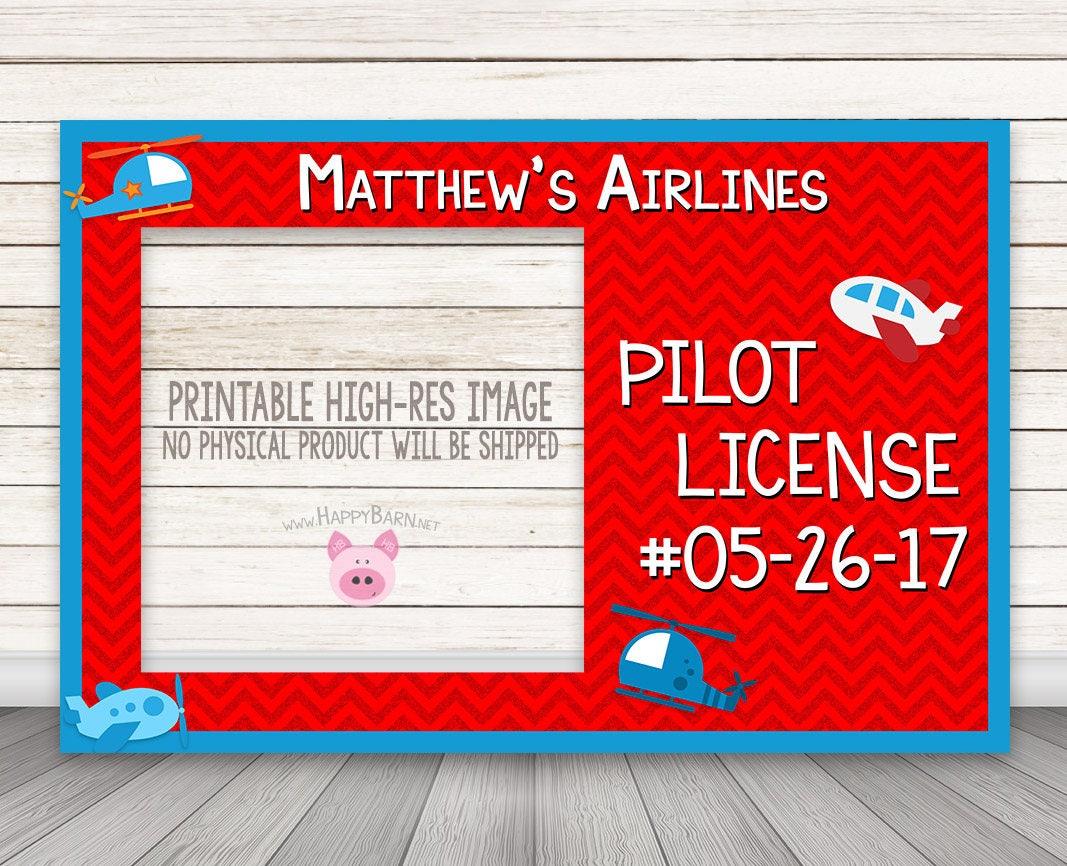 DRUCKBARE Piloten-Lizenz Stand Rahmen Stand Fotorahmen | Etsy