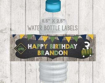 Printable Tractor Water Bottle Labels, Printable Tractor Labels, Tractor Party, Farm Water Bottle Labels, Barn Water Bottle Labels, Barnyard