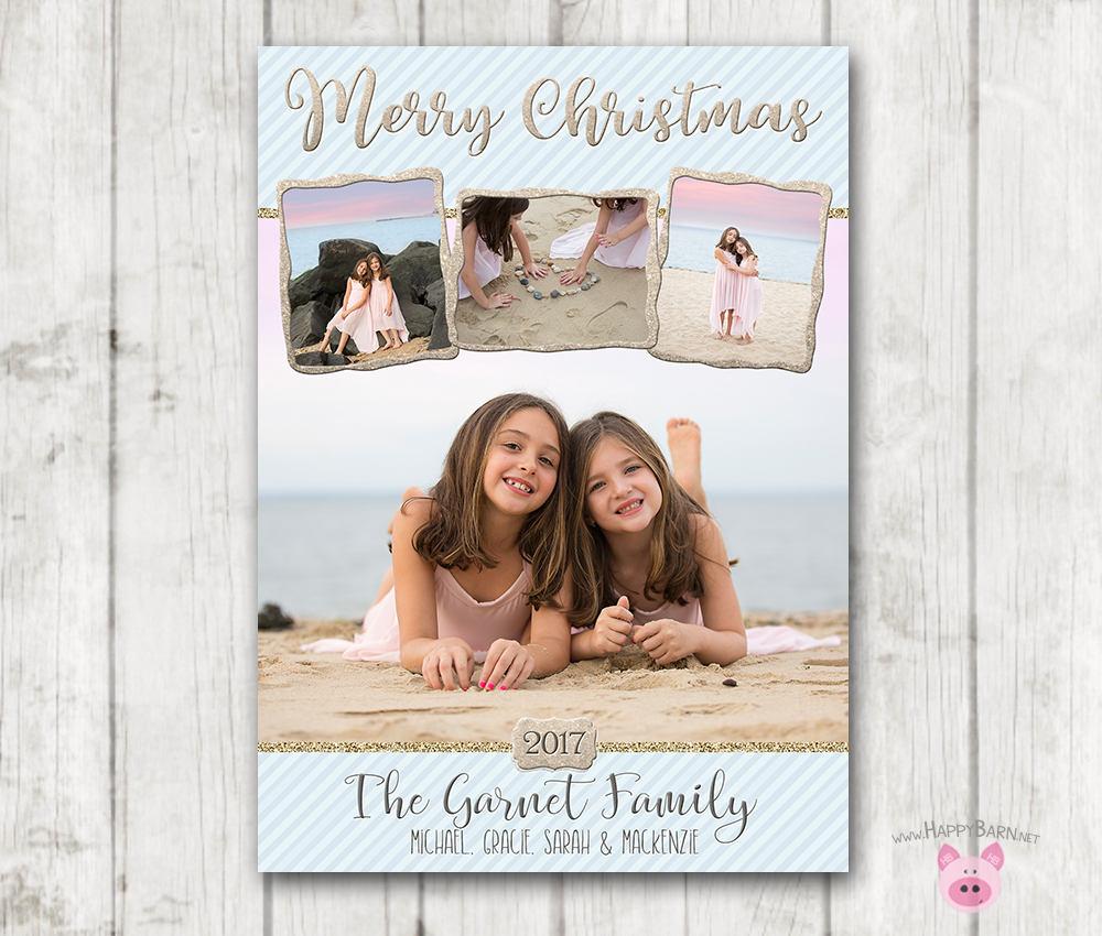 Nautical Christmas Card Beach Christmas Card Photo Christmas | Etsy