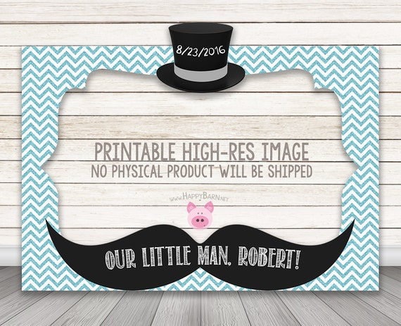 Printable Little Man Photo Booth Frame Baby Shower Photo Etsy