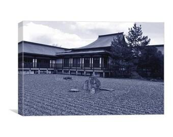 Zen Garden in Blue Canvas Print