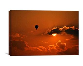 Into The Setting Sun canvas print