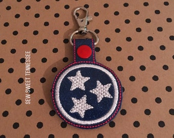 Tennessee key chain, Nashville Tennessee, Tennessee Titans, Key Fob, Snap Tab, Nashville Predators, Tennessee Volunteers, Music City