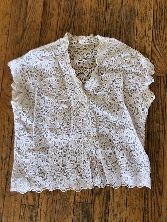 Vintage 50s lace blouse