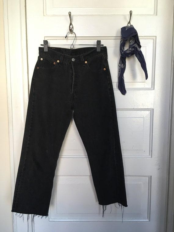 90's Vintage Black Levi's 501 Size 27