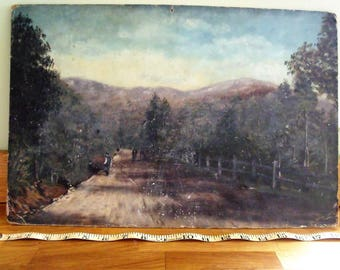 Hobart Tasmania Australia Oil painting on board 1894 by Stanley Charles Mellor