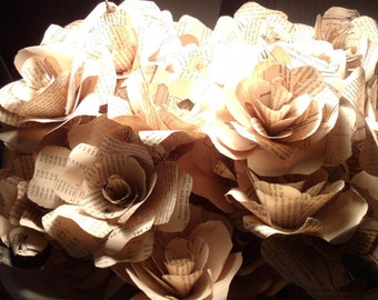 Book Paper Flowers- wedding centerpieces, etc.