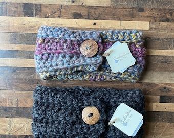 Hawthorne Chunky Earwarmer, earwarmer, winter, winter gear, cold weather accessory, crochet earwarmer, wool earwarmer, cold weather