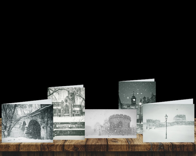 Featured listing image: City of Carlisle: Snow Scenes Volume I - Christmas Card Pack (5 Cards)