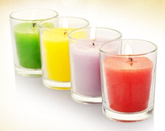 scented Votive Candle In Glass Holder