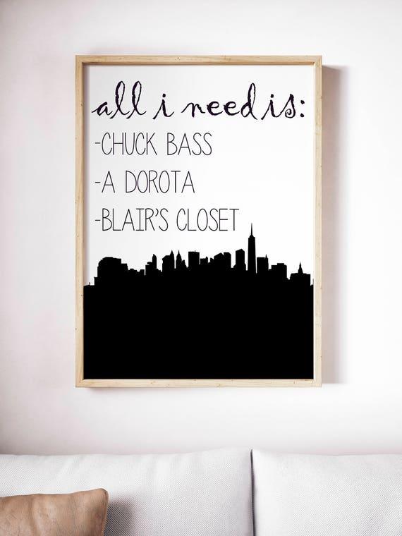 Gossip Girl Blair Waldorf Chuck Bass Alle Ich Brauche | Etsy