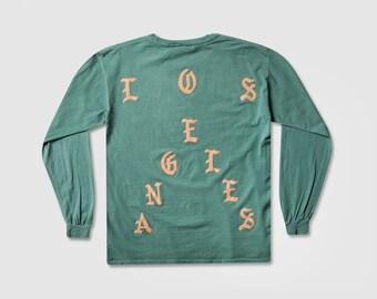 556c37c3ab442 The Life of Pablo Pop Up I Feel Like Pablo LOS ANGELES Seafoam Ultra Light  Beam Long Kanye West Yeezy TLOP Tour Merch Yeezus Perfect! Shirt