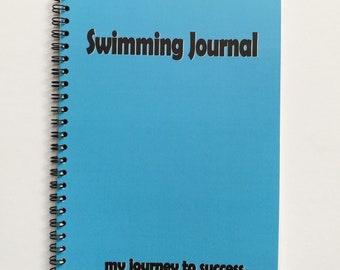 Swim Training Journal,Swimming Planner Diary,Swimming Workout Planner,Swim Squad Gift,Gift for Swimmer,Swimming Journal,A5 Fitness Planner
