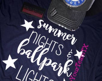 f2fd38ed3871 Summer Nights   Ballpark Lights Flowy Tee