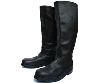 Russian military genuine leather boots FLIGHT soldier  soviet boots winter boots