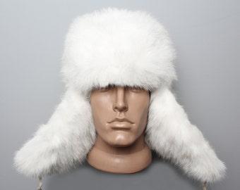 Genuine White Rabbit Fur hat