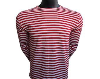 CCCP Russian Football Soviet Union Double Stripe Ringer USSR Unisex T Shirt