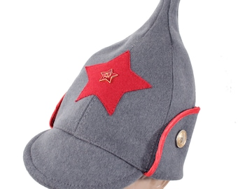 d9d530fcadc Soviet Red Army woolen gray hat Budenovka