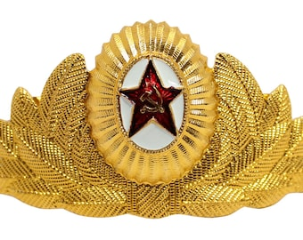 Russian General Cockade Soviet Army military hat pin badge
