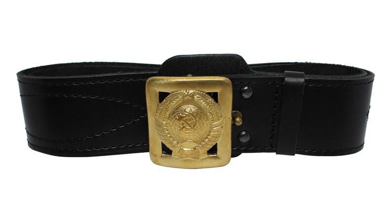 f7708ceaa44 Boucle de MVD générale de la Police russe ceinture en cuir