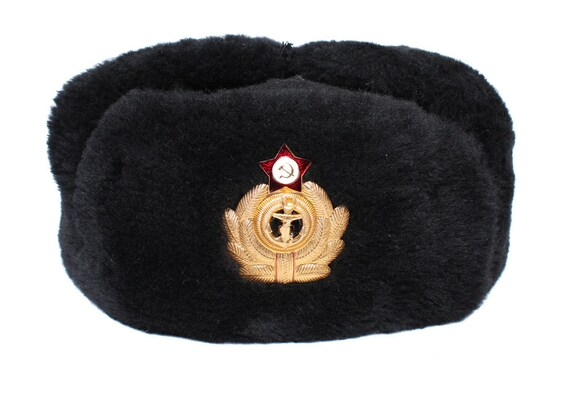 URSS Russie marine officiers Chapka Ushanka soviétique marine flotte  uniforme 00eb4044b01