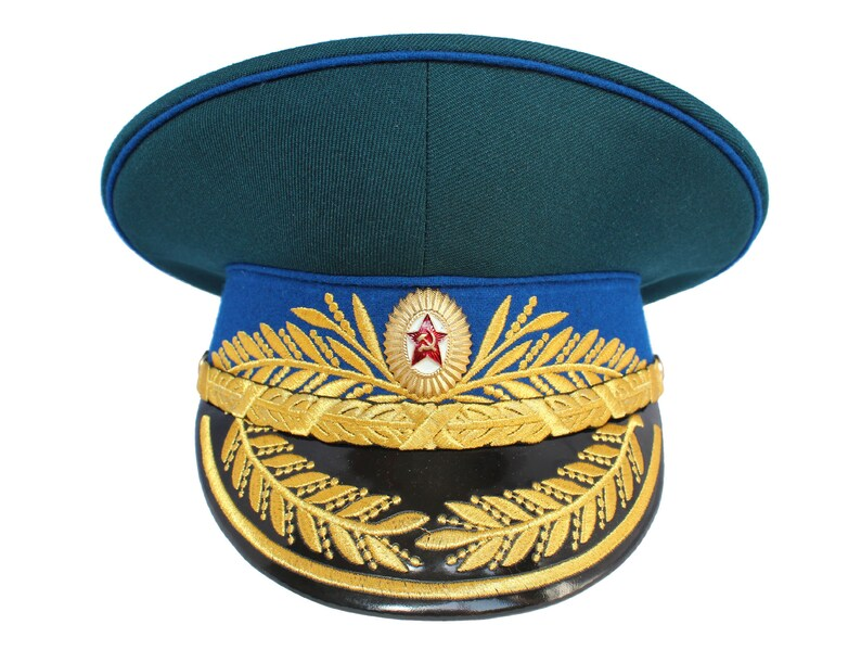 9d6ff5e10a2 USSR Soviet Parade KGB General Visor hat Russian Army military