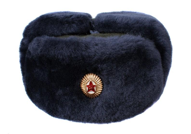 345aa1522f11d Soviet winter hat Ushanka Border Troops