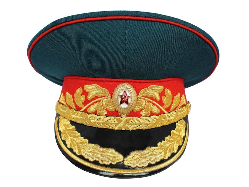 9a4d2af1962 Soviet Army Military visor hat Parade Marshal Russian visor