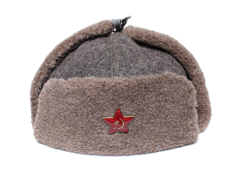 Original Soviet military warm Hat Ushanka Red Army  10e4c9c94db