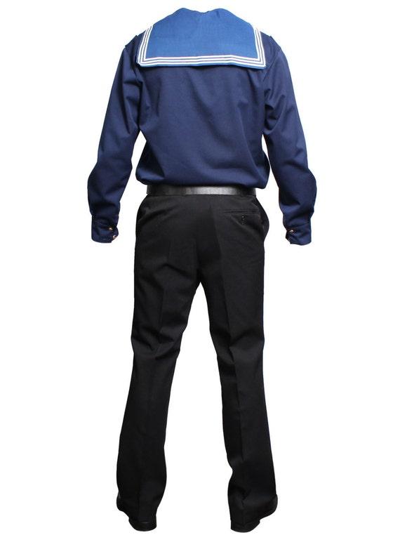 Russian sailors Navy Everyday Soviet uniform VMF Blue jacket Flanka and black trousers
