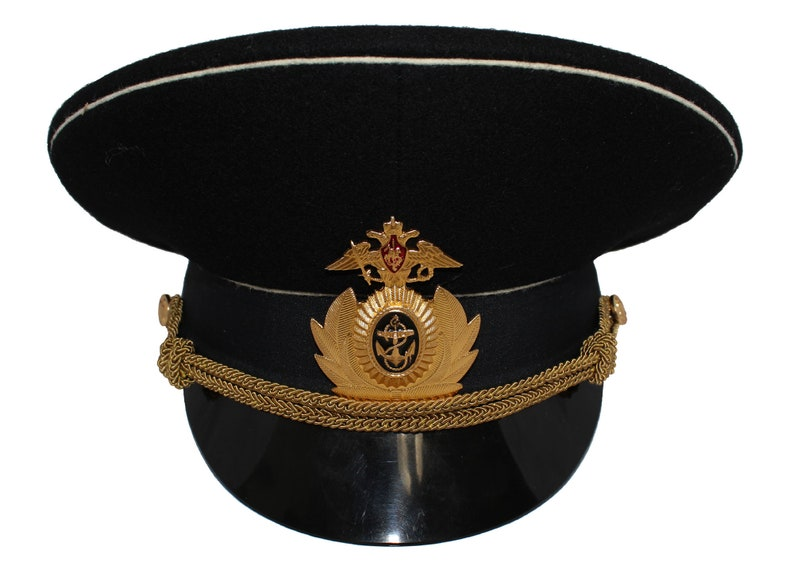 3d6945c03fb Russian Navy Fleet Officer Black Visor Hat