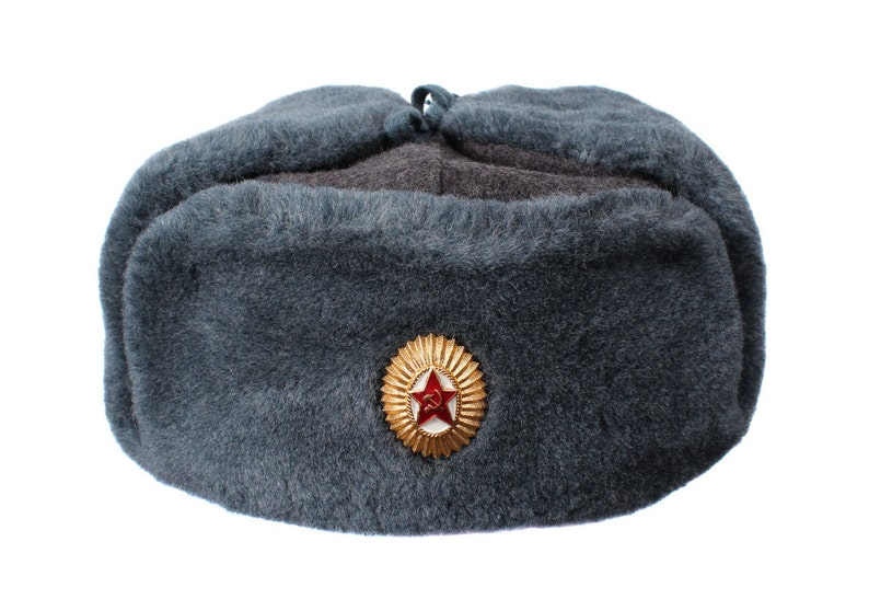 434e97fded9 Russian military surplus winter warm Officer s Hat Ushanka Soviet Army  headd... Russian military surplus winter warm Officer s Hat Ushanka Soviet  Army ...