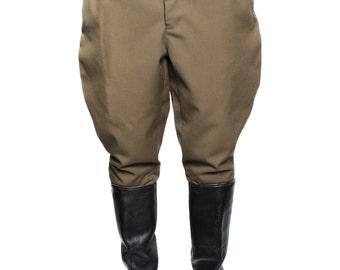 Soviet Army Khaki Riding breeches, USSR military field trousers Galife