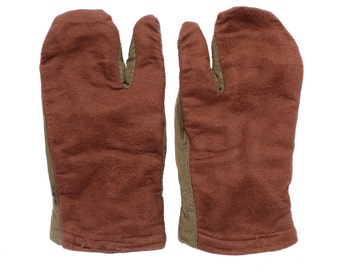 USSR Soldiers winter Gloves, Soviet Army mittens with wool