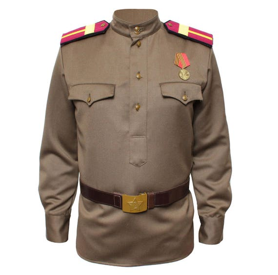 Russische Uniform Jacke Gimnasterka militärischen sowjetischen | Etsy