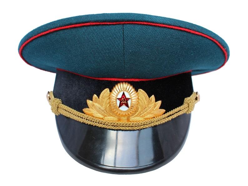 7c2431c2b45 Soviet Artillery and Tank troops Officers Parade visor cap