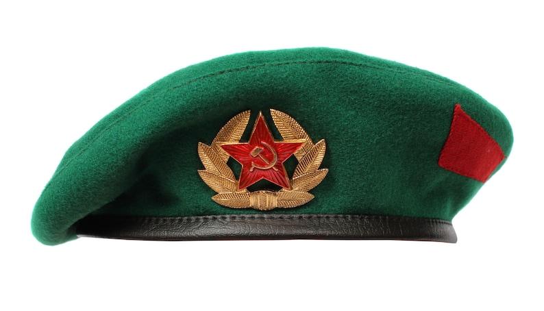 fafb33d626b9d Soviet Military Border troops Green beret hat Russian army
