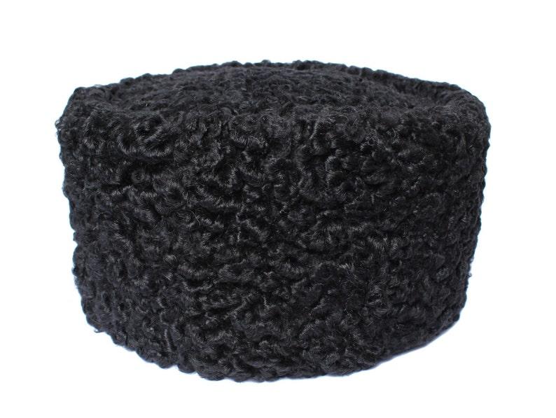 4b0dc1b2b9bba Vintage Russian Winter Hat Black Astrakhan Fur Sheep Kubanka