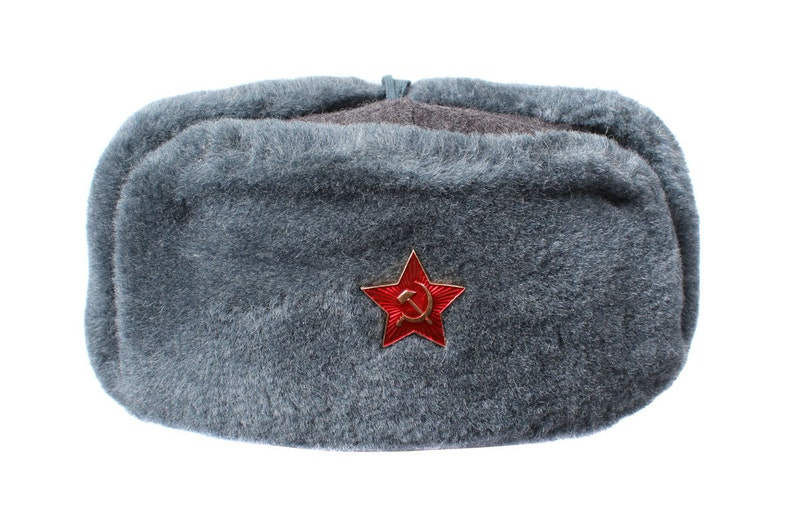 0697afdc85c Russian winter fur military Hat Ushanka Soldiers of Soviet