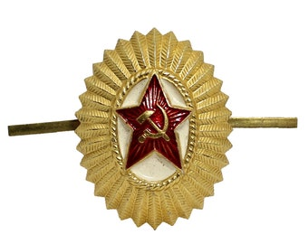 Soviet Army hat badge Officers insignia hat pin