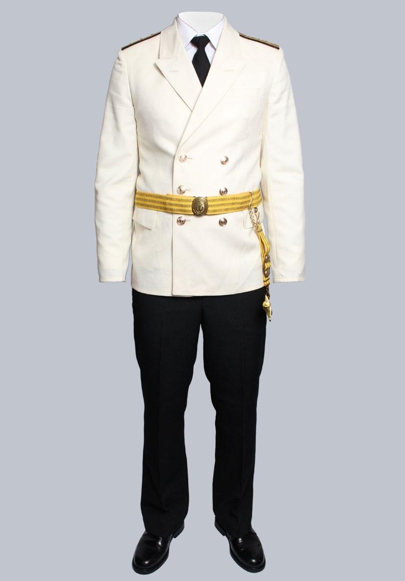 Uniformeetsy Marine Nwx80onpkz Russe Capitaine Parade Blanc Flotte c3Rq45jLA
