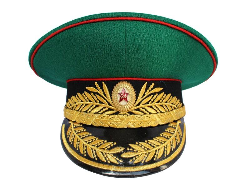b3549bb3d11 Soviet General Visor Hat Russian border guards Russian