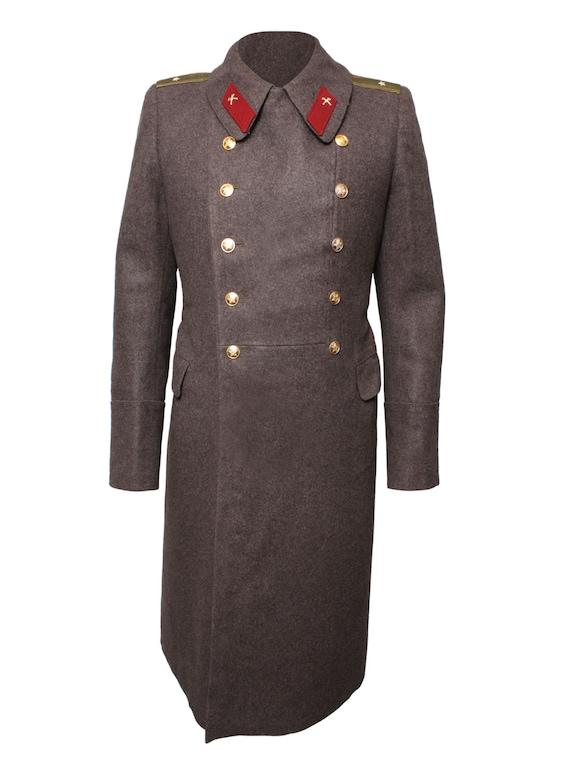 Sowjetische Russischen Wintermantel Offiziere Wolle Mantel NRJeden Lange Tag Braun D9IYEHe2W