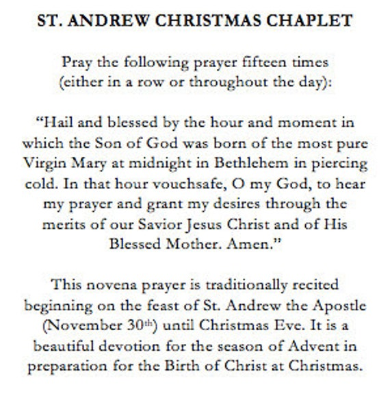 image about St Andrew Novena Printable identified as St Andrew Novena Prayer Artwork Items t Novena prayers