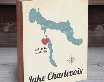 Lake Charlevoix - Charlevoix Michigan - Charlevoix mi - Charlevoix Art Map