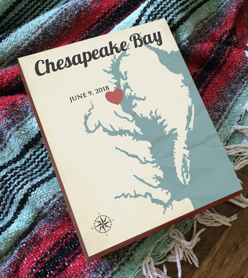 Chesapeake Bay Decor Chesapeake Bay Nautical Map Chesapeake Bay Art Chesapeake Bay Map Chesapeake Bay Print