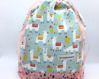 Small project bag with drawstring, drawstringbag, projectbag