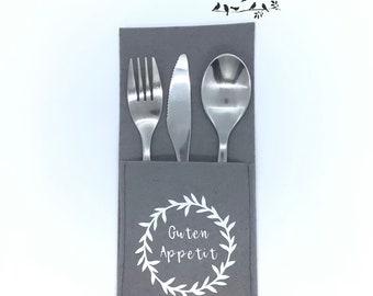 Cutlery bag set, 6 pieces