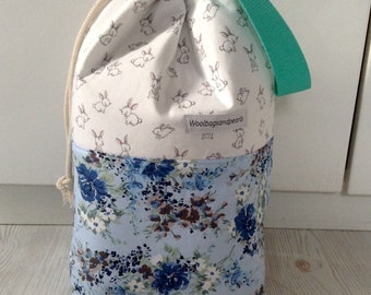 High project bag with drawstring and handle